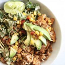 Vegan BBQ Jackfruit Burrito Bowl