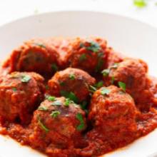 Vegan meatballs with house-made marinara sauce